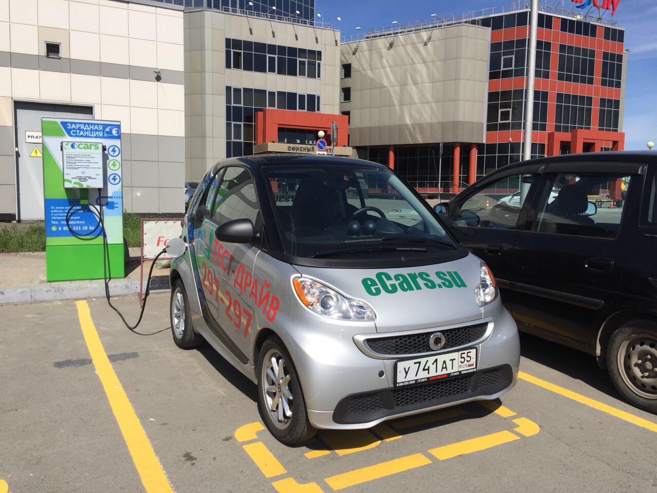 В Омске открылась первая зарядная станция для электромобилей