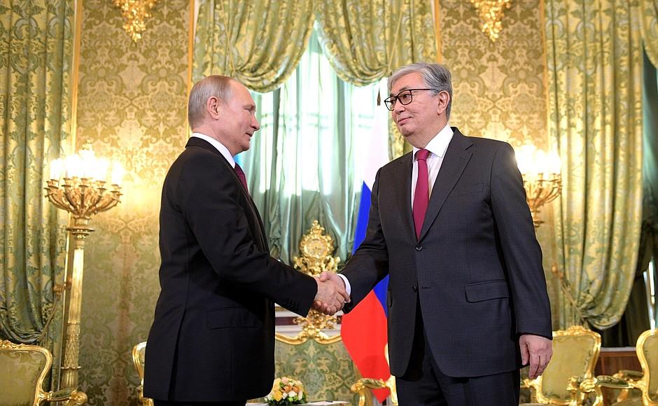 Путин и Токаев в Омске