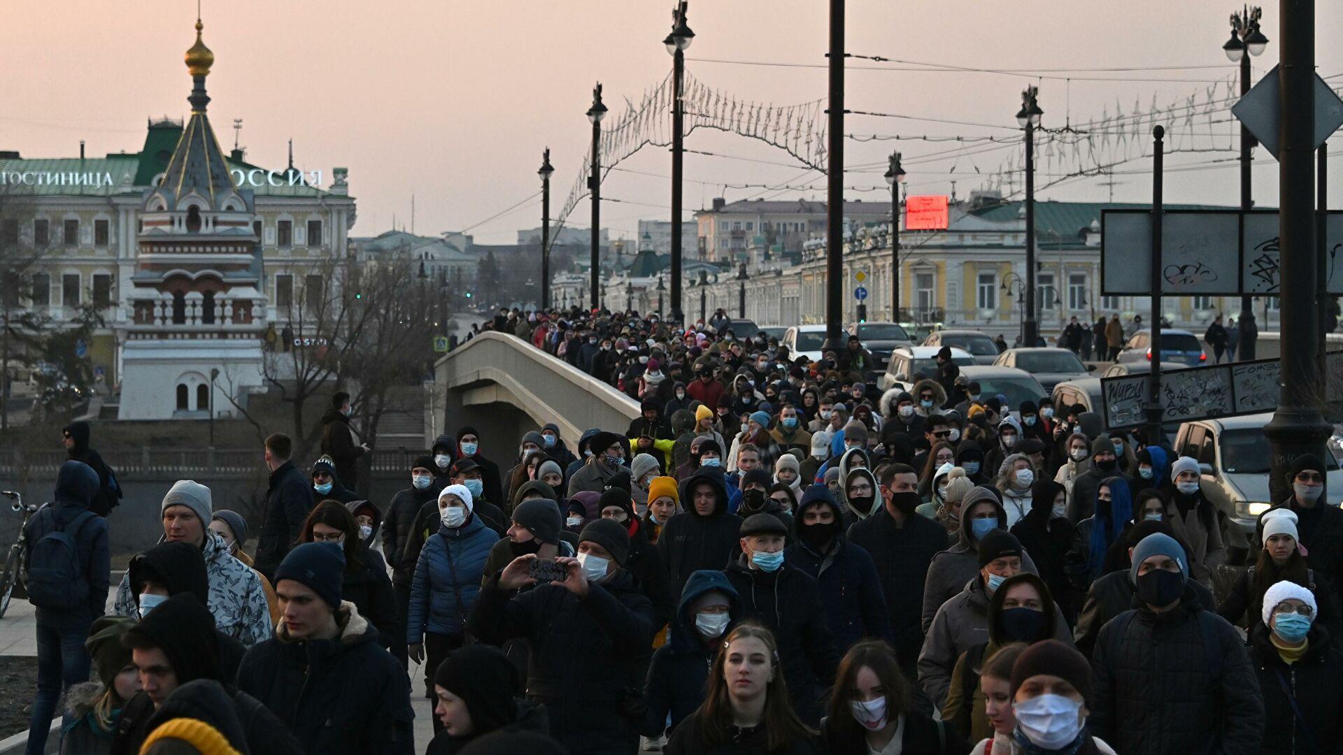 Вчера по России прошли незаконные акции