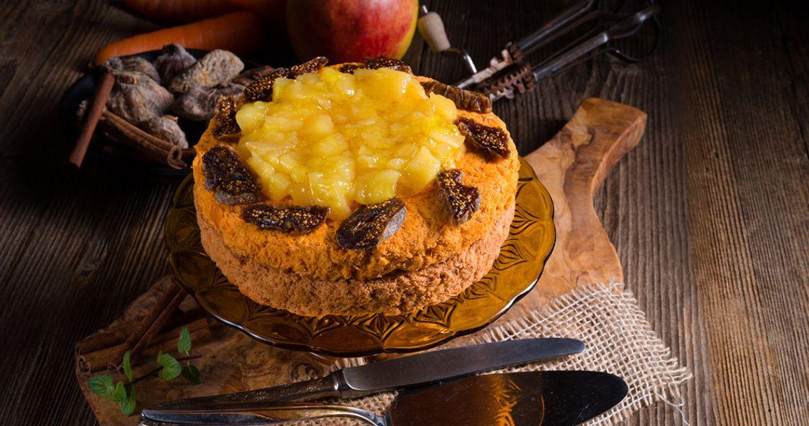 Рецепт недели. Морковно-ананасовый пирог с сырным муссом
