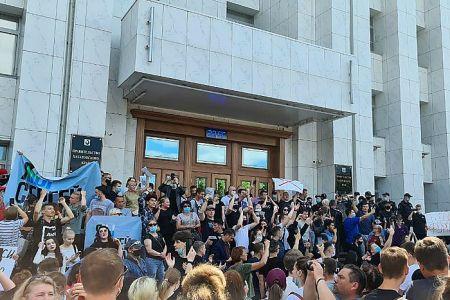 Жители Хабаровска вышли на митинги в поддержку губернатора Фургала