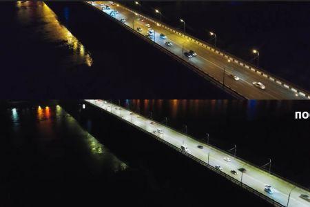 В Омске был запущен проект «Умный свет», и на улицах стало светлее.