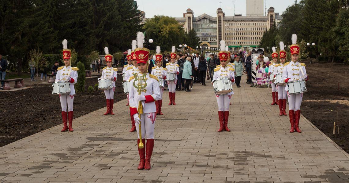 Открытие первой очереди бульвара Мартынова.